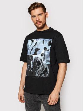 Trussardi Trussardi T-Shirt Pure 52T00455 Czarny Over Fit