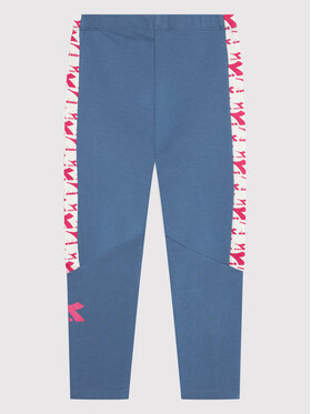Diadora Diadora Legginsy Twinkle 102.177817 Niebieski Slim Fit