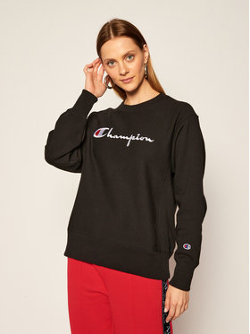 Champion Champion Džemperis Script Logo 113795 Juoda Regular Fit