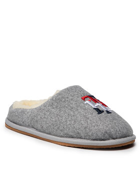 Tommy Hilfiger Tommy Hilfiger Kapcie Th Embroidery Home Slipper FW0FW05429 Szary