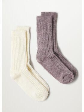 Mango Mango 2 pár hosszú szárú női zokni Judith r. OS 17093776 Bézs