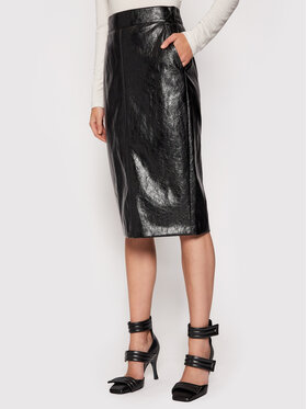 Marella Marella Spódnica z imitacji skóry Barbian 31060216 Czarny Slim Fit