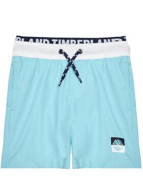 Timberland Timberland Szorty kąpielowe T24B43 S Niebieski Regular Fit