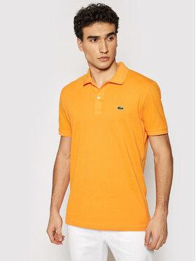 Lacoste Lacoste Тениска с яка и копчета PH4012 Оранжев Slim Fit