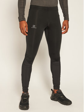 Salomon Salomon Κολάν Agile Warm Tight L40360300 Μαύρο Slim Fit
