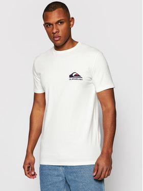 Quiksilver Quiksilver T-Shirt Reflect EQYZT06372 Bílá Regular Fit