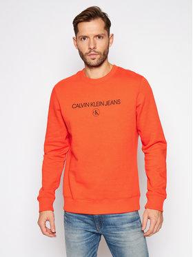 Calvin Klein Jeans Calvin Klein Jeans Mikina Archive Logo J30J316683 Oranžová Regular Fit