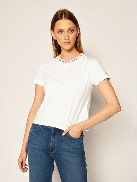 Tommy Jeans Tommy Jeans T-shirt Tjw Branded Neck DW0DW08537 Bianco Regular Fit