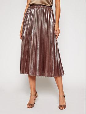 Pennyblack Pennyblack Plisovaná sukně Nuvoloso 11040420 Hnědá Regular Fit