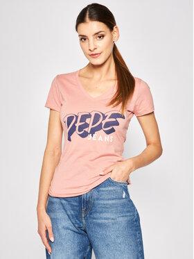 Pepe Jeans Pepe Jeans Marškinėliai Adele PL504431 Rožinė Regular Fit