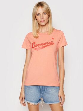 Converse Converse T-shirt Front Logo Short Sleeve 10018268-A29 Rosa Regular Fit