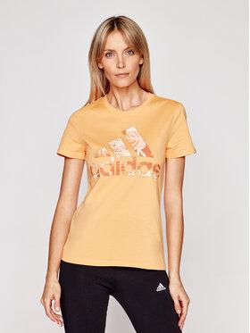 adidas adidas T-shirt Tropical Graphic GL0837 Arancione Slim Fit