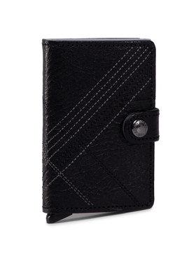 Secrid Secrid Malá pánska peňaženka Miniwallet MSt Stitch Linea Čierna