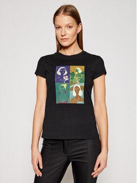 Marella Marella T-Shirt Italia 39710312200 Czarny Regular Fit