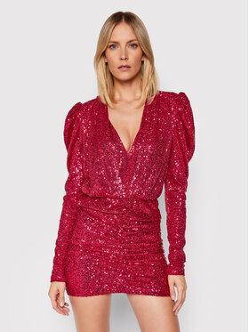 Pinko Pinko Коктейлна рокля Resistencia 20212 BLK01 1G16MJ Y7DW Розов Regular Fit