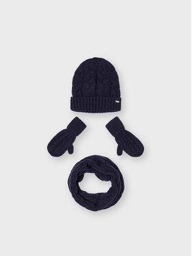 Mayoral Mayoral Zestaw czapka, szalik i rękawiczki 10156 Granatowy
