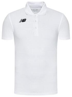 New Balance New Balance Тениска с яка и копчета NBMT71060 Бял Slim Fit