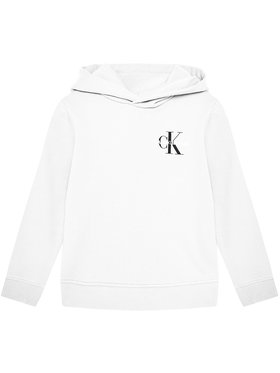 Calvin Klein Jeans Calvin Klein Jeans Bluză Unisex Small Monogram IU0IU00164 Alb Regular Fit
