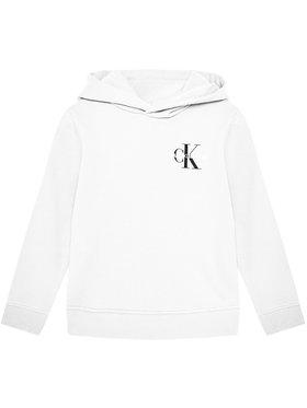 Calvin Klein Jeans Calvin Klein Jeans Felpa Unisex Small Monogram IU0IU00164 Bianco Regular Fit