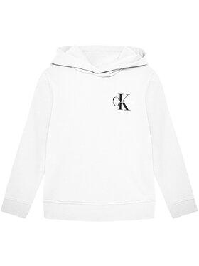 Calvin Klein Jeans Calvin Klein Jeans Mikina Unisex Small Monogram IU0IU00164 Bílá Regular Fit