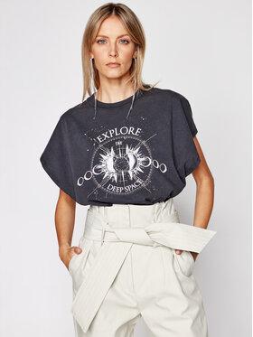 IRO IRO T-Shirt Explor A0283 Czarny Oversize