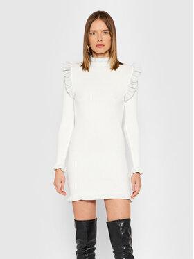 Rinascimento Rinascimento Трикотажна сукня CFM0010441003 Білий Slim Fit