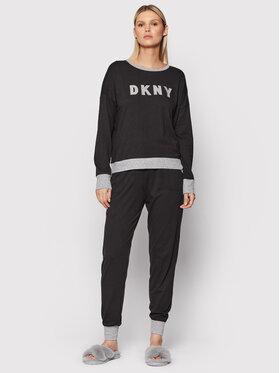 DKNY DKNY Pizsama YI2919259 Fekete