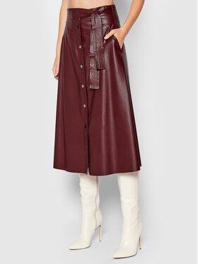 Liu Jo Liu Jo Suknja od imitacije kože WF1027 E0392 Tamnocrvena Regular Fit