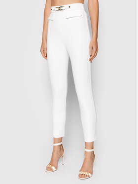 Elisabetta Franchi Elisabetta Franchi Spodnie materiałowe PA-386-16E2-V260 Biały Regular Fit