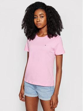 Tommy Jeans Tommy Jeans Marškinėliai Tjw Soft Jersey Tee DW0DW06901 Rožinė Regular Fit
