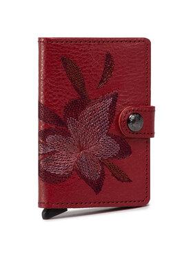 Secrid Secrid Kleine Damen Geldbörse Miniwallet MSt Stitch Magnolia Dunkelrot