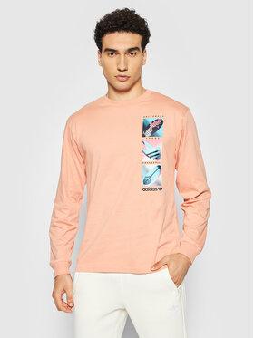 adidas adidas Longsleeve Summer Icons Tee H31313 Pomarańczowy Regular Fit