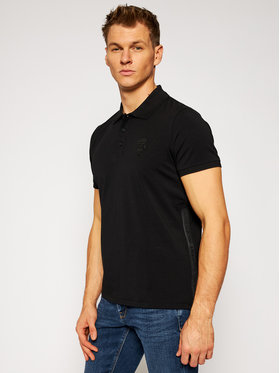 KARL LAGERFELD KARL LAGERFELD Тениска с яка и копчета 745019 502221 Черен Regular Fit