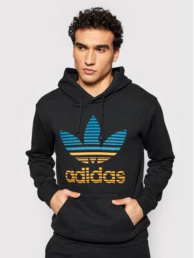 adidas adidas Суитшърт Trefoil Ombré GP0158 Черен Regular Fit