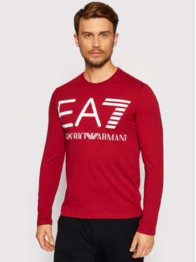 EA7 Emporio Armani EA7 Emporio Armani Тениска с дълъг ръкав 6KPT30 PJ6EZ 1459 Червен Regular Fit