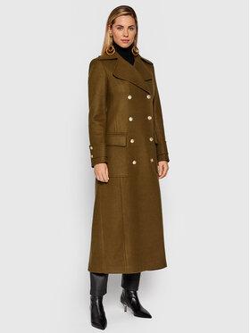 Fracomina Fracomina Prechodný kabát FR21WC1014W49301 Zelená Regular Fit