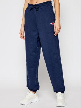 Tommy Jeans Tommy Jeans Teplákové kalhoty DW0DW09740 Tmavomodrá Relaxed Fit