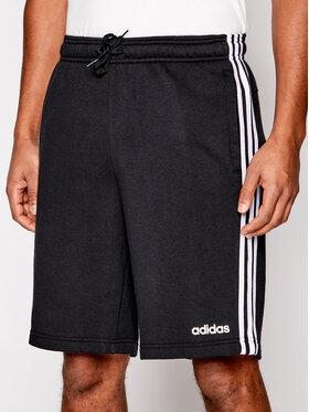 adidas adidas Szorty sportowe Essentials 3-Stripes French Terry DU7830 Czarny Standart Fit