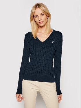 Gant Gant Sweater Stretch Cable 480022 Sötétkék Slim Fit