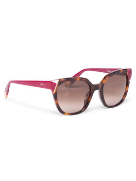 Furla Furla Okulary przeciwsłoneczne Sunglasses SFU401 401FFS5-RCR000-TJA00-4-401-20-CN-D Brązowy