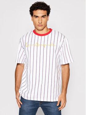 Karl Kani Karl Kani T-Shirt Originals Pinstripe 6030933 Biały Regular Fit