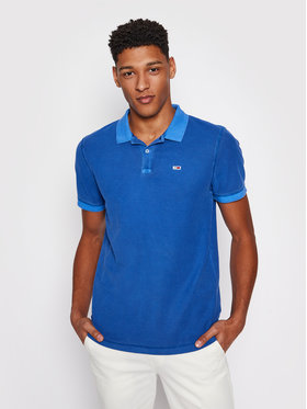 Tommy Jeans Tommy Jeans Pólóing Garment Dye DM0DM10586 Kék Regular Fit