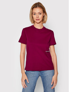 Calvin Klein Jeans Calvin Klein Jeans T-Shirt J20J216469 Růžová Regular Fit