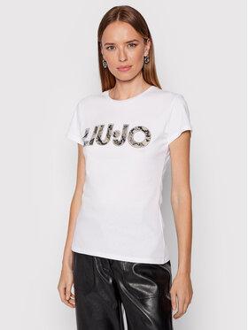 Liu Jo Liu Jo T-shirt WF1449 J6287 Bijela Slim Fit