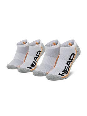 Head Head Lot de 2 paires de chaussettes basses unisexe 791018001 Blanc