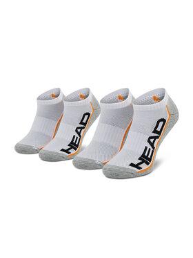 Head Head Sada 2 párů nízkých ponožek unisex 791018001 Bílá