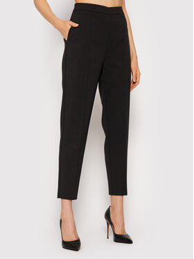 Rinascimento Rinascimento Текстилни панталони CFC0105058003 Черен Regular Fit