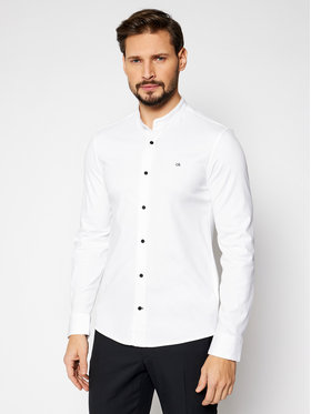 Calvin Klein Calvin Klein Camicia Stand Collar K10K107112Y Bianco Slim Fit