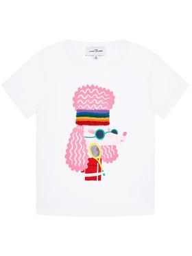 Little Marc Jacobs Little Marc Jacobs T-Shirt W15552 S Biały Regular Fit