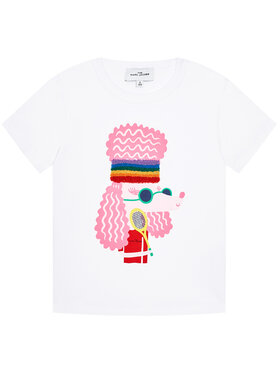 Little Marc Jacobs Little Marc Jacobs T-shirt W15552 S Blanc Regular Fit